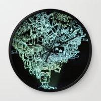 geek Wall Clocks featuring GEEK by taniavisual