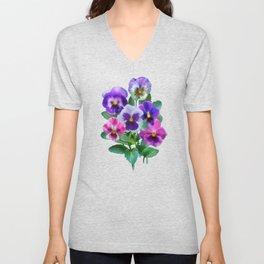 Bouquet of violets II Unisex V-Neck