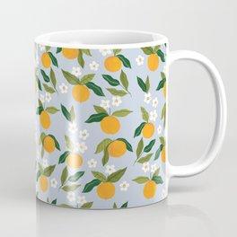 Gouache Oranges Blue Coffee Mug
