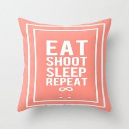 Filmaker's Daily Routine (K) Throw Pillow