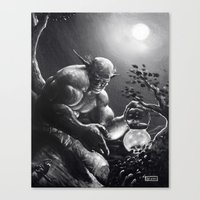 fireflies Canvas Prints featuring Fireflies by Art by Justin