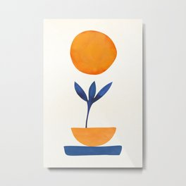 The Little One / Abstract Plant Painting Metal Print