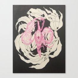 Funky Fish Illustration Canvas Print