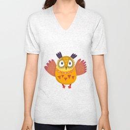 Cute Owl Unisex V-Neck