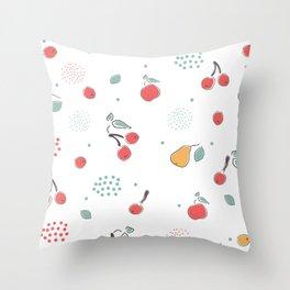 Cute fruits Throw Pillow