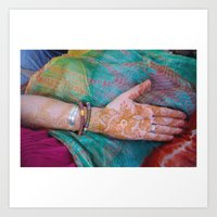 Henna Hand Art Print