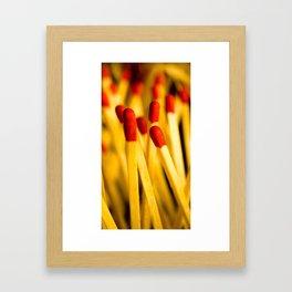match happiness Framed Art Print