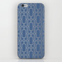 Simply Mid-Century in White Gold Sands and Aegean Blue iPhone Skin