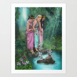 The Three Princesses Art Print