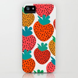 Funny strawberries iPhone Case