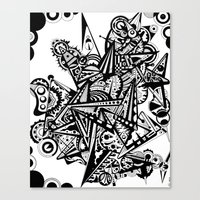 andreas preis Canvas Prints featuring Black geometry by Andreas Handgruber by Artometrie.com