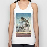 house Tank Tops featuring house by Кaterina Кalinich