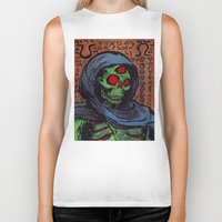occult Biker Tanks featuring Occult Macabre by Chris Moet