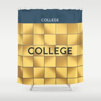 college Shower Curtains featuring COLLEGE | Subway Station by Daniel McLaren