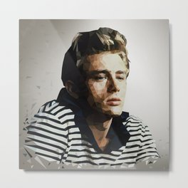 Pop Icon Dean James Portrait Metal Print