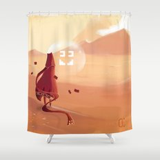 The journey of the brave knight  Shower Curtain