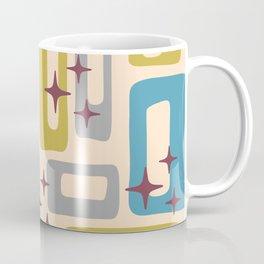 Retro Mid Century Modern Abstract Pattern 924 Turquoise Gray Olive Coffee Mug