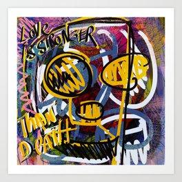Love is Stronger than Death Graffiti Street Art Emmanuel Signorino  Art Print