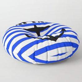 Captain and anchor logo Floor Pillow