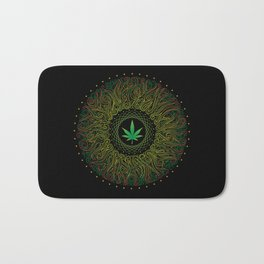 Magic plant. Marijuana leaf. mandala Bath Mat