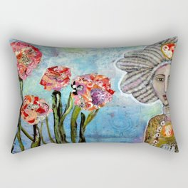 Rose Water Sky Rectangular Pillow