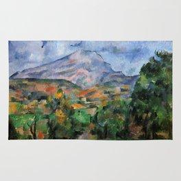 """Paul Cezanne """"Mont Sainte-Victoire"""", c.1890 Rug"""