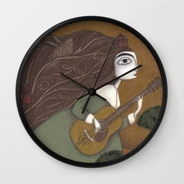 The Guitar Player Wall Clock