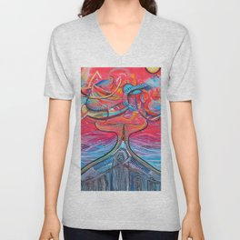 Thought Eruptions Unisex V-Neck