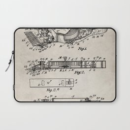 Barber Hair Clippers Patent - Barber Shop Art - Antique Laptop Sleeve