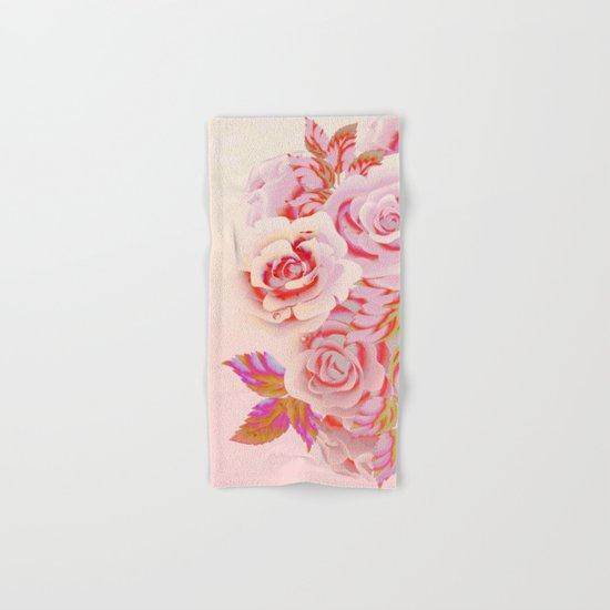 composition florale en rose Hand & Bath Towel