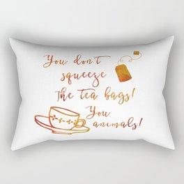 Don't Squeeze the Tea Bag - Orange Rectangular Pillow