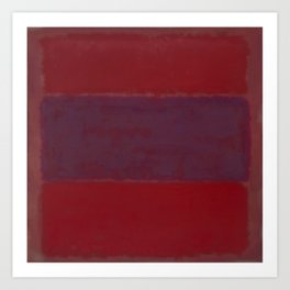 1959 No. 301 Red and Blue Over Red by Mark Rothko HD Art Print