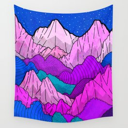 The night time hills Wall Tapestry