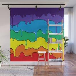 Rainbow Drip Wall Mural