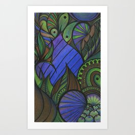 Of Fish and Feathers Art Print