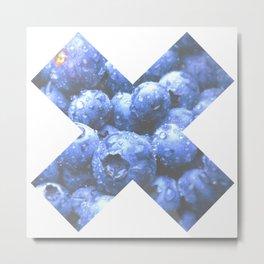 X Mora Azul Metal Print