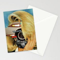 Crazy Woman Car Face Stationery Cards