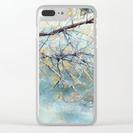A Chickadees Home Clear iPhone Case