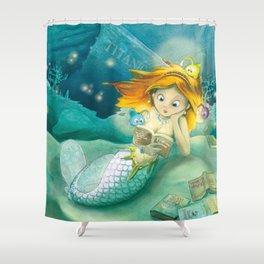 How mermaids get new books Shower Curtain