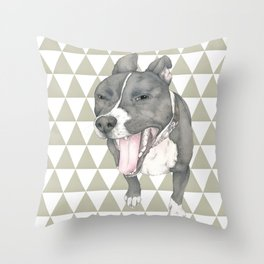The little dog laughed. Throw Pillow