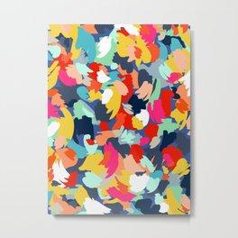 Confetti Brush Strokes Metal Print