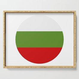 Bulgarian flag Serving Tray