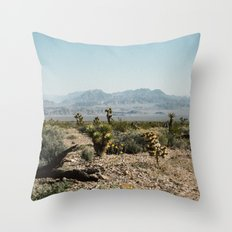 Nevada Desert Scene Throw Pillow