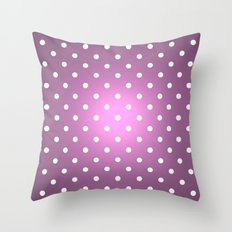 Polka Party Radiant Orchid Throw Pillow