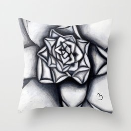 Light and Dark Succulent Throw Pillow