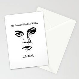 """""""My Favorite Shade of White is Jack"""" Stationery Cards"""