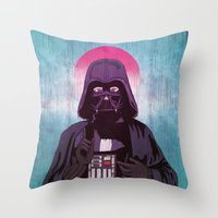 sith Throw Pillows featuring Holy Sith by That Design Bastard