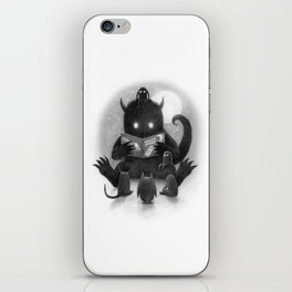 Story Time (black and white option) iPhone Skin