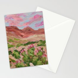Nevada Desert Landscape Painting Stationery Cards