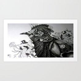 BNM // Black Naped Monarch Art Print